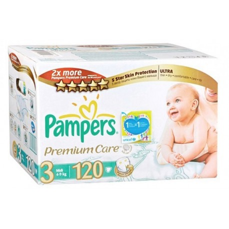 Mega pack 160 Couches Pampers Premium Care taille 3 sur Promo Couches