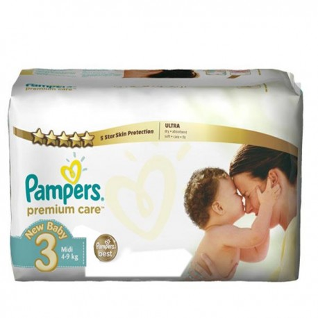 Mega pack 180 Couches Pampers Premium Care taille 3 sur Promo Couches
