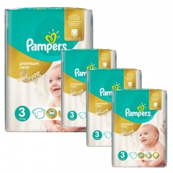Giga pack 200 Couches Pampers Premium Care taille 3