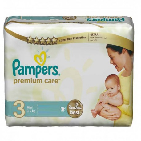 Maxi giga pack 340 Couches Pampers Premium Care taille 3 sur Promo Couches