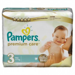 Maxi giga pack 360 Couches Pampers Premium Care taille 3