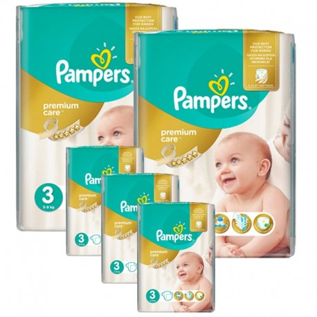 Maxi giga pack 380 Couches Pampers Premium Care taille 3 sur Promo Couches