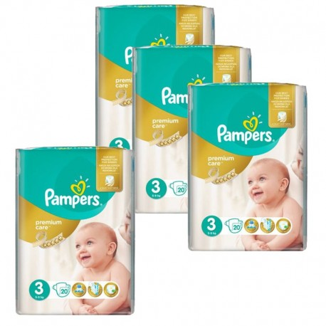 Maxi mega pack 400 Couches Pampers Premium Care taille 3 sur Promo Couches