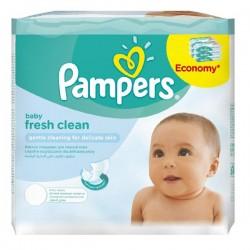Pack économique 384 Lingettes Bébés Pampers Fresh Clean - 6 Packs de 64