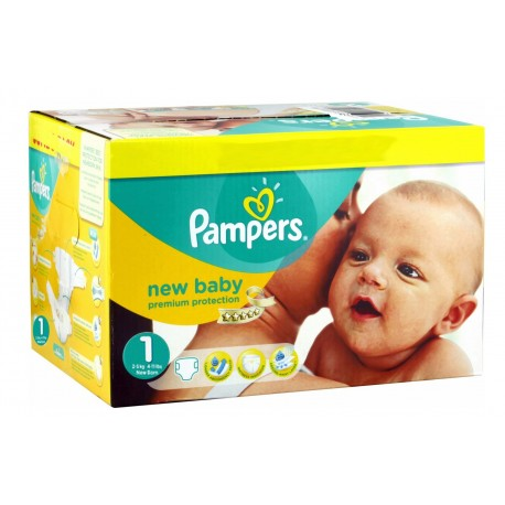 Maxi mega pack 432 Couches Pampers New Baby Premium Protection taille 1 sur Promo Couches
