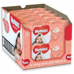 Maxi giga pack 336 Lingettes Bébés Huggies Soft Skin