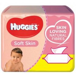 Pack jumeaux 672 Lingettes Bébés Huggies Soft Skin