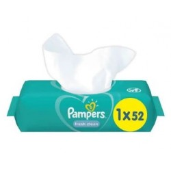 Pack 52 Lingettes Bébés Pampers Fresh Clean sur Promo Couches