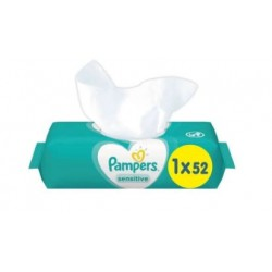 Pack 52 Lingettes Bébés Pampers Sensitive sur Promo Couches