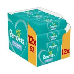Giga pack 208 Lingettes Bébés Pampers Fresh Clean