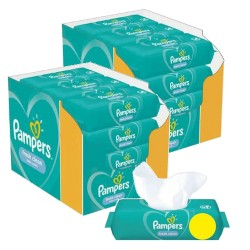 Maxi giga pack 312 Lingettes Bébés Pampers Fresh Clean sur Promo Couches