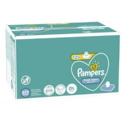 Maxi mega pack 416 Lingettes Bébés Pampers Fresh Clean sur Promo Couches