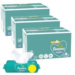 Pack jumeaux 624 Lingettes Bébés Pampers Fresh Clean