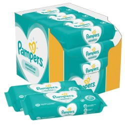 Maxi giga pack 364 Lingettes Bébés Pampers Sensitive sur Promo Couches