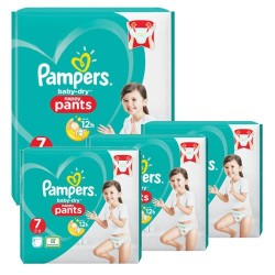 Pack 42 Couches Pampers Baby Dry Pants taille 7 sur Promo Couches