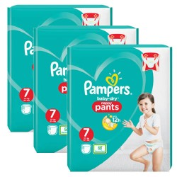 Pack 63 Couches Pampers Baby Dry Pants taille 7 sur Promo Couches