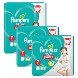Mega pack 105 Couches Pampers Baby Dry Pants taille 7 sur Promo Couches