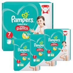 Mega pack 147 Couches Pampers Baby Dry Pants taille 7 sur Promo Couches