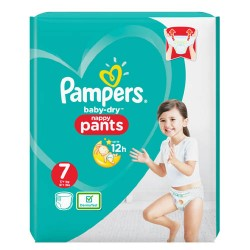 Pack 29 Couches Pampers Baby Dry Pants taille 7 sur Promo Couches