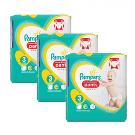 Mega pack 105 Couches Pampers Premium Protection Pants taille 3 sur Promo Couches