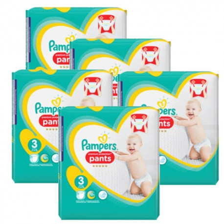 210 Couches Pampers Premium Protection Pants taille 3 sur Promo Couches