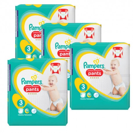 Maxi giga pack 310 Couches Pampers Premium Protection Pants taille 3 sur Promo Couches