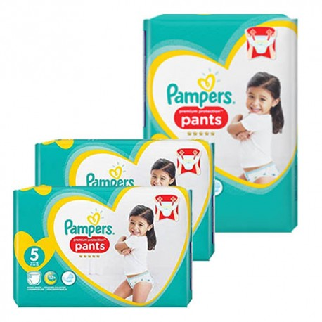 Mega pack 120 Couches Pampers Premium Protection Pants taille 5 sur Promo Couches