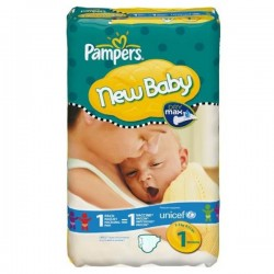 Maxi Pack 172 Couches de Pampers New Baby Dry taille 1