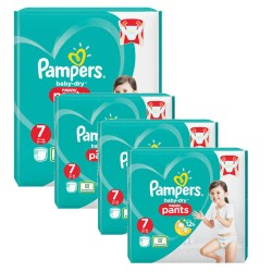 Pack 87 Couches Pampers Baby Dry Pants taille 7 sur Promo Couches