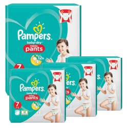 Mega pack 116 Couches Pampers Baby Dry Pants taille 7 sur Promo Couches