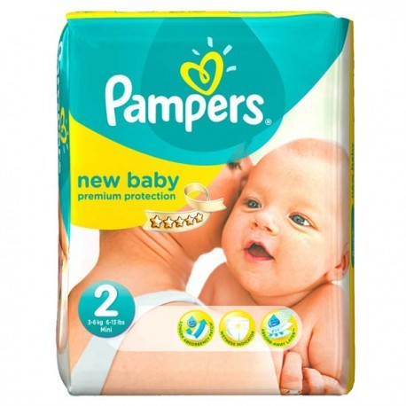 Pack 66 Couches Pampers New Baby Dry taille 2 sur Promo Couches