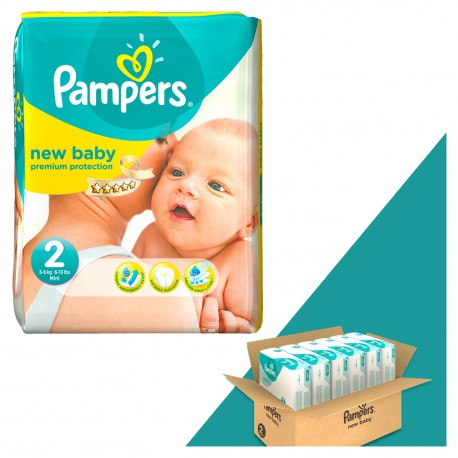 Mega pack 198 Couches Pampers New Baby Dry taille 2 sur Promo Couches