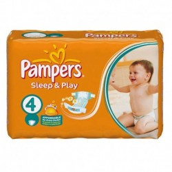 Pack 68 Couches Pampers Sleep & Play taille 4
