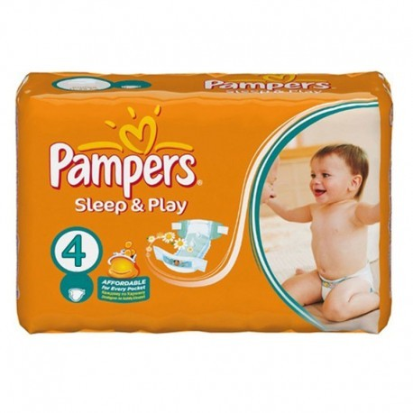 Pack 68 Couches Pampers Sleep & Play taille 4 sur Promo Couches