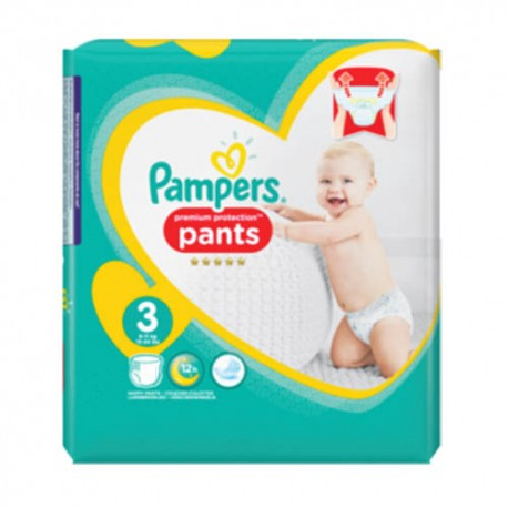 Pack 35 Couches Pampers Premium Protection Pants taille 3 sur Promo Couches