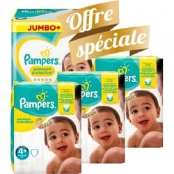 Giga pack 210 Couches Pampers New Baby Premium Protection taille 4+ sur Promo Couches