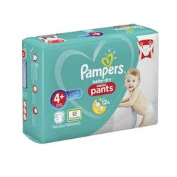 Pack 99 Couches Pampers Baby Dry Pants taille 4+ sur Promo Couches