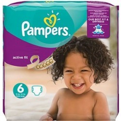 Mega pack 120 Couches Pampers Active Fit taille 6