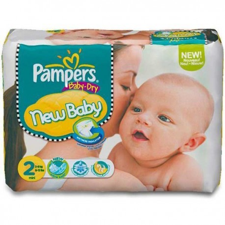 Pack de 72 Couches de Pampers New Baby Dry de taille 2 sur Promo Couches