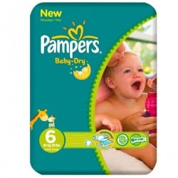 Pack 31 Couches Pampers Baby Dry taille 6