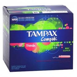 Pack 80 Tampons Tampax Compak de taille SuperavecApplicateur sur Promo Couches