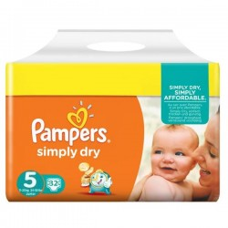 Pack 32 couches Pampers Simply Dry