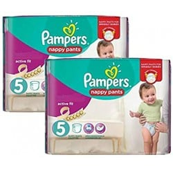 Giga pack 204 Couches Pampers Active Fit Pants taille 5 sur Promo Couches