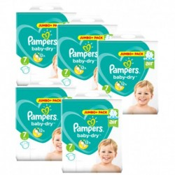 Pack 63 Couches Pampers Baby Dry taille 7 sur Promo Couches