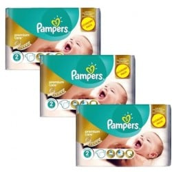 Pack 66 Couches Pampers New Baby Premium Care taille 2 sur Promo Couches
