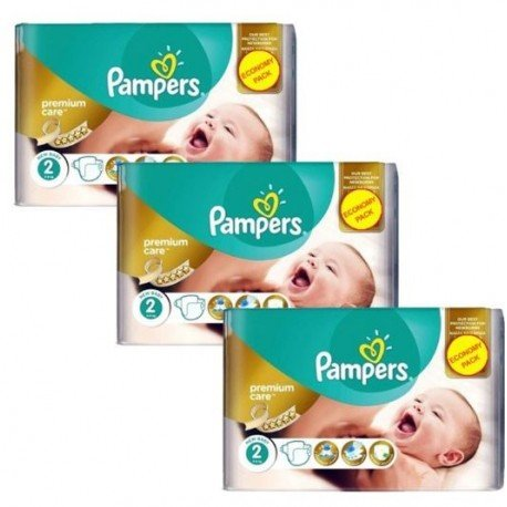 Maxi giga pack 330 Couches Pampers New Baby Premium Care taille 2 sur Promo Couches