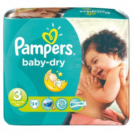 3 Baby Couches Cher Dry Moins Promo 34 Taille Pampers Sur TZTwOqA
