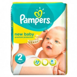 Pack 76 Couches Pampers New Baby Dry taille 2