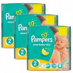 Mega pack 152 Couches Pampers New Baby Dry taille 2