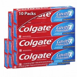 Maxi Pack de 10 Dentifrices Colgate de la gamme Cavity Protection sur Promo Couches